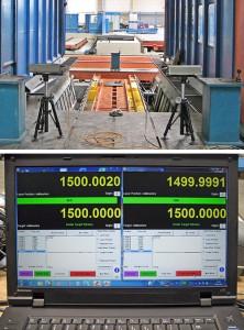 Laservermessung Gantry Achse Portalfräsmaschine